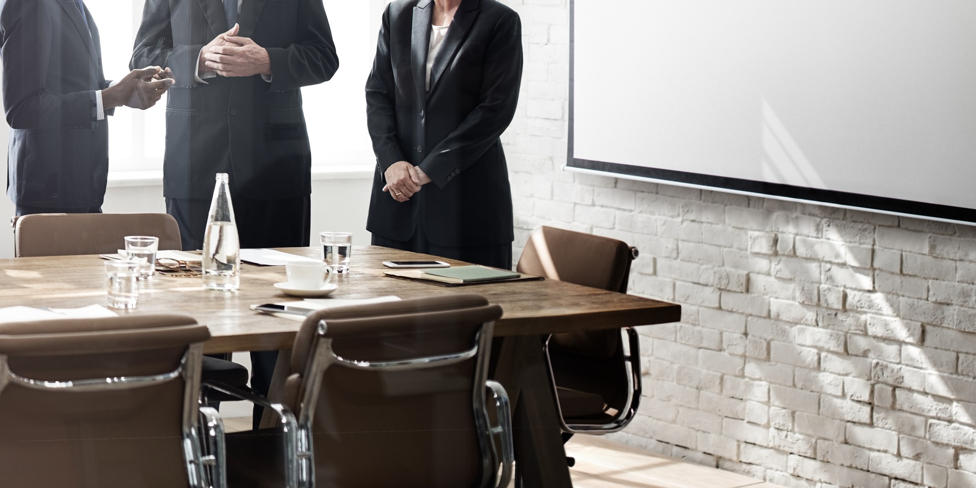 Business people talking in a meeting