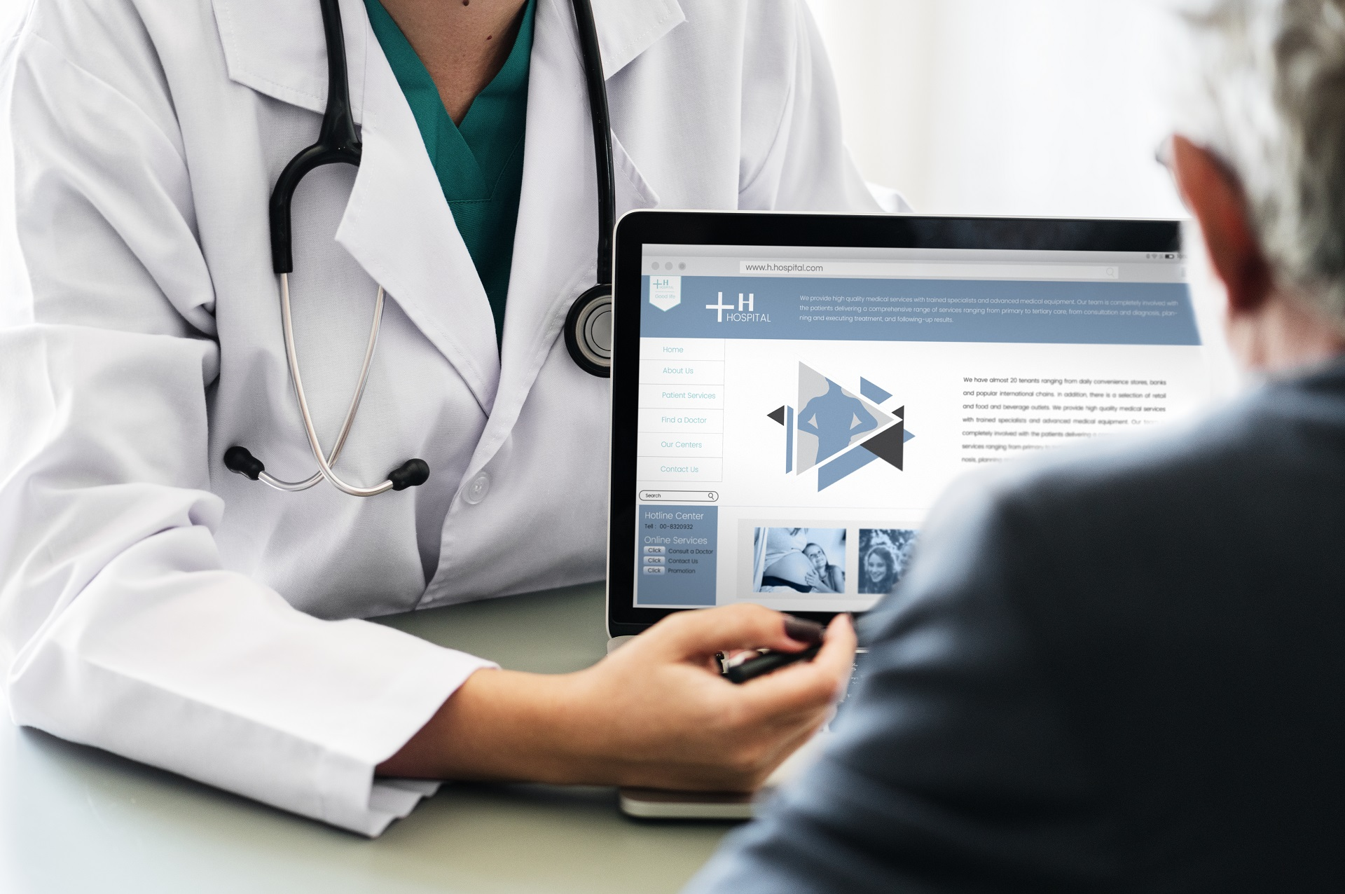 Doctor suggesting hospital program to patient