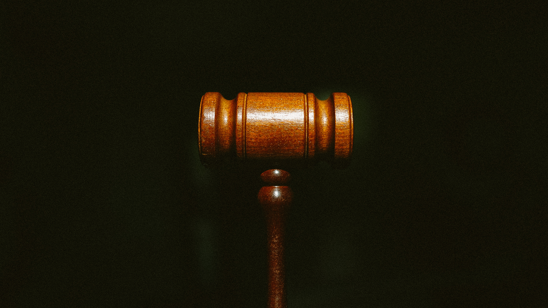 Gavel on a dark background